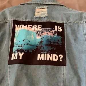 Where is my mind denim jacket